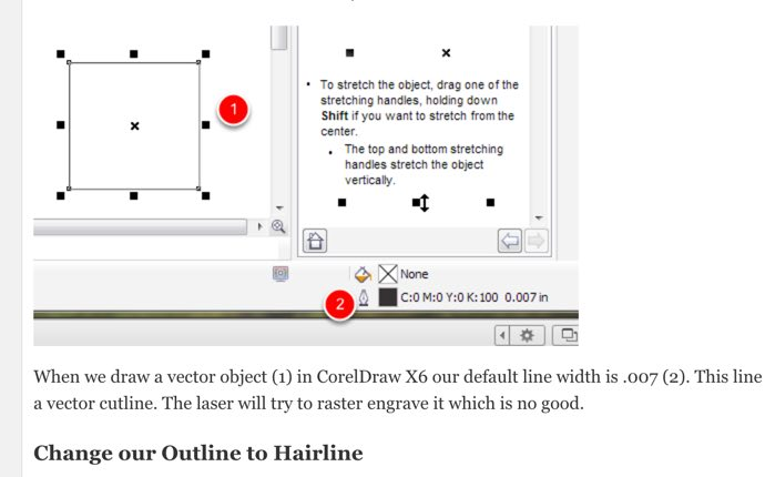 Changing the Default Pen Width in CorelDraw X6 X7 and X8 | MTM