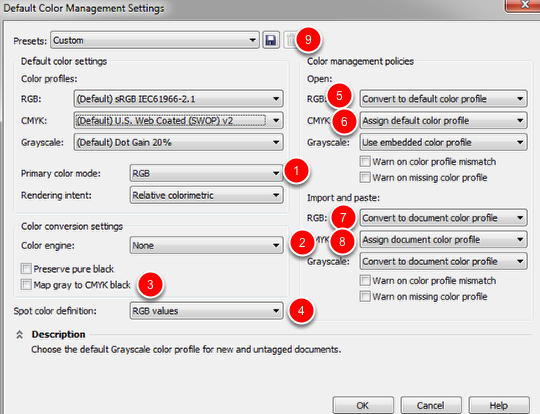 Setting Up Your Defaults In CorelDraw X6, X7, X8 | MTM